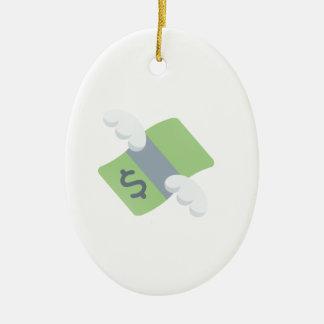 flying money emoji christmas ornament