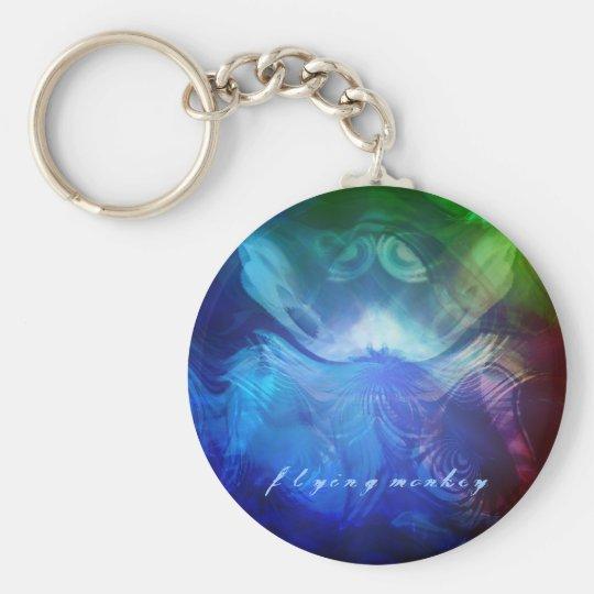 Flying Monkey Basic Round Button Key Ring