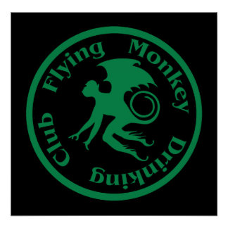 Flying Monkey Drinking Club Poster