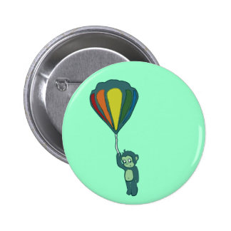flying monkey : hot air balloon 6 cm round badge