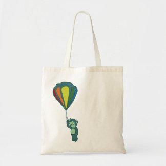 flying monkey hot air balloon tote bag