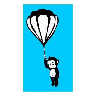 flying monkey : hot air balloon business card template