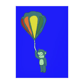 flying monkey : hot air balloon gallery wrapped canvas