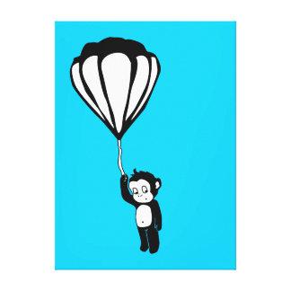flying monkey : hot air balloon canvas prints