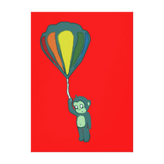 flying monkey : hot air balloon gallery wrap canvas