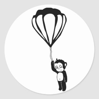 flying monkey : hot air balloon classic round sticker
