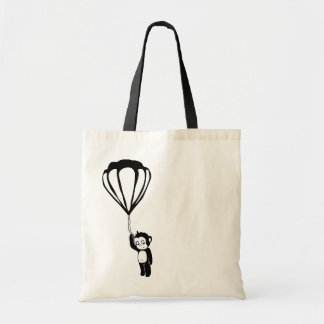 flying monkey hot air balloon tote bags