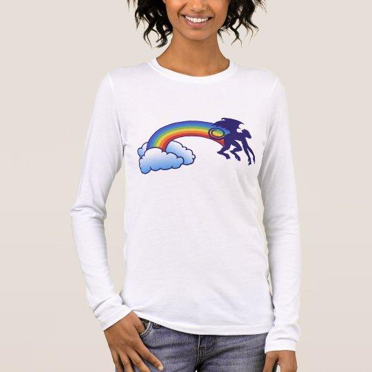 Flying Monkey Rainbow Long Sleeve T-Shirt