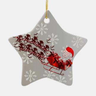 Flying Monkey Santa Christmas Ornament
