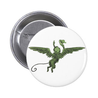 Flying Monkey, Wizard of Oz Pinback Buttons