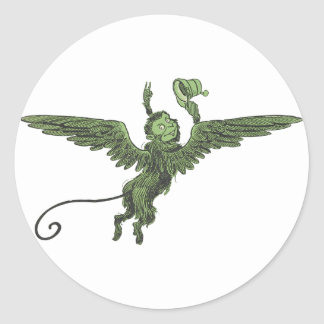 Flying Monkey, Wizard of Oz Classic Round Sticker