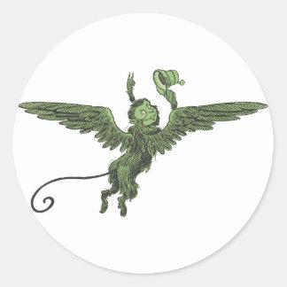 Flying Monkey, Wizard of Oz Round Sticker