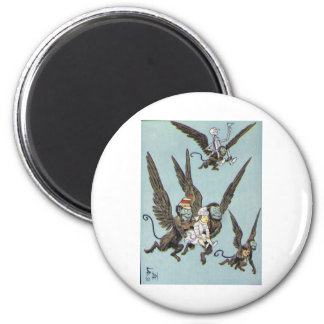 Flying Monkeys Color 6 Cm Round Magnet