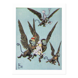 Flying Monkeys Color Postcard