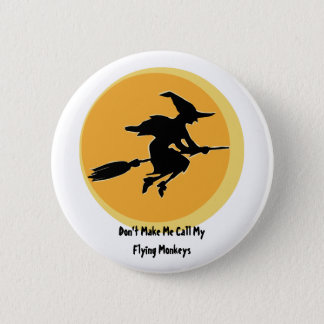 Flying Monkeys Witch (customizable) 6 Cm Round Badge