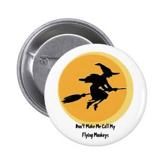 Flying Monkeys Witch (customizable) 6 Cm Round Badge