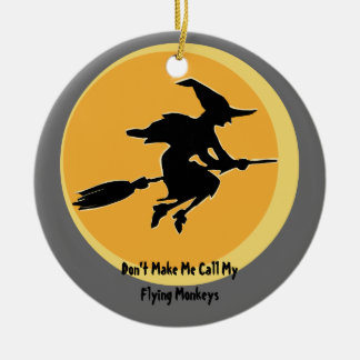 Flying Monkeys Witch (customizable) Christmas Ornament