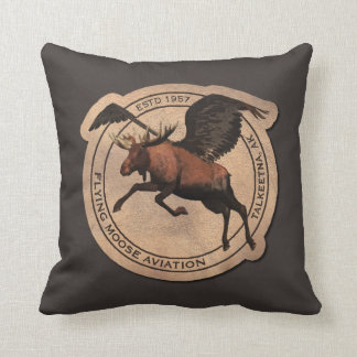 Flying Moose Aviation Patch Cushion
