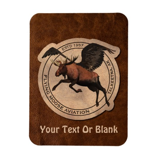 Flying Moose Aviation Patch Magnet