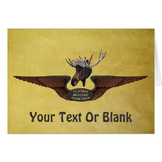 Flying Moose Bush Pilot Wings Greeting Card