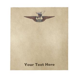 Flying Moose Bush Pilot Wings Notepads