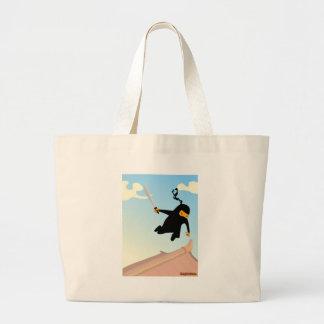 Flying Ninja Jumbo Tote Bag