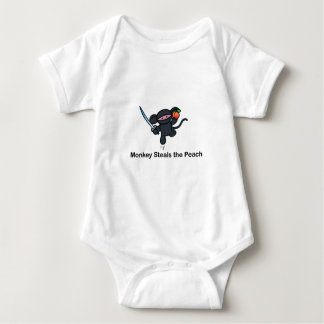 Flying Ninja Monkeys Steals the Peach Baby Bodysuit