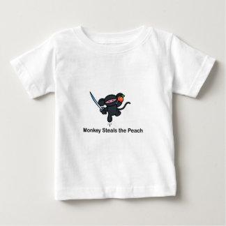 Flying Ninja Monkeys Steals the Peach Baby T-Shirt