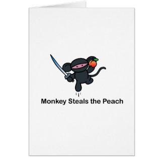 Flying Ninja Monkeys Steals the Peach Card