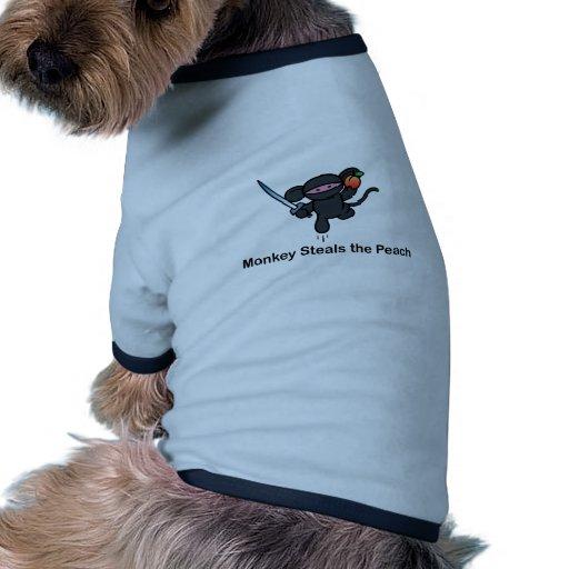 Flying Ninja Monkeys Steals the Peach Pet Tee Shirt