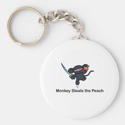 Flying Ninja Monkeys Steals the Peach Key Chains