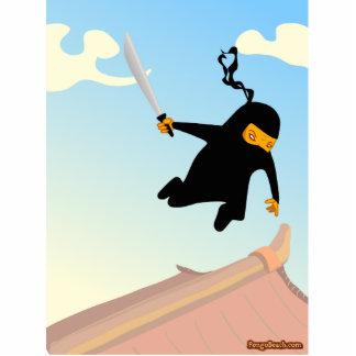 Flying Ninja Standing Photo Sculpture