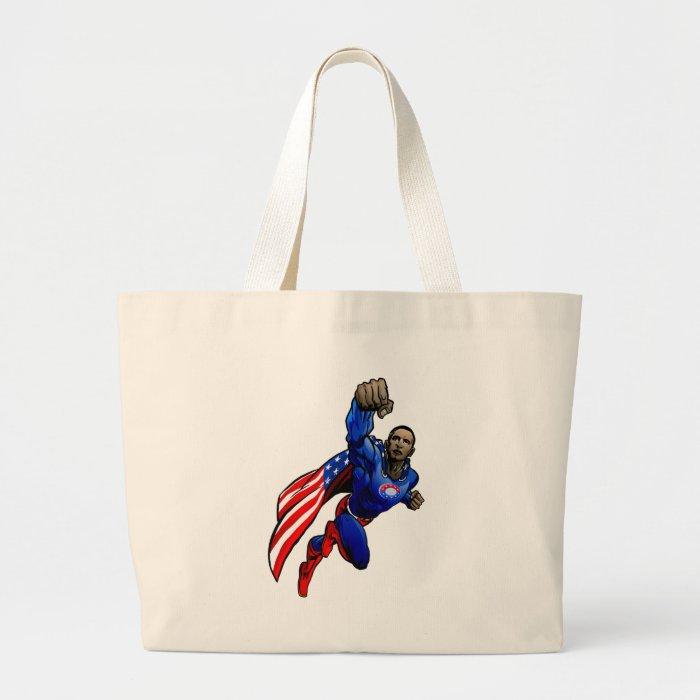 Flying Obama Large Tote Bag