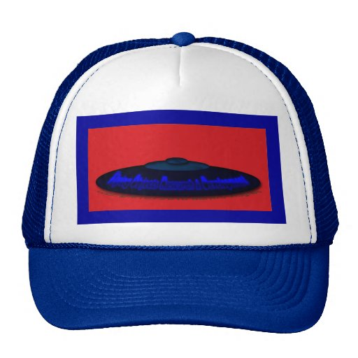Flying Objects R. & D. in Chrome BLUE and Magenta Hat