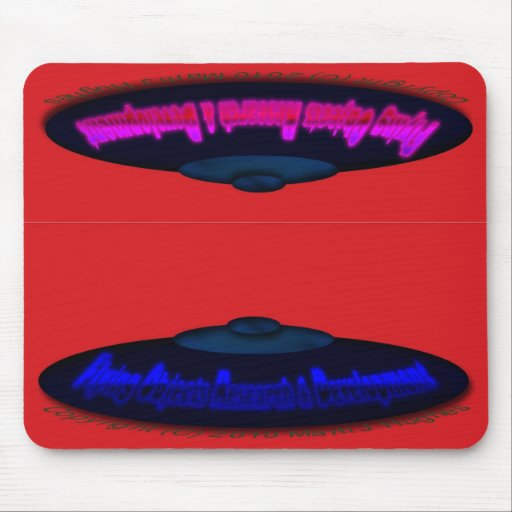 Flying Objects R. & D. in Chrome BLUE and Magenta Mousepad