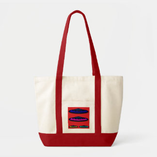 Flying Objects R. & D. in Chrome BLUE and Magenta Impulse Tote Bag