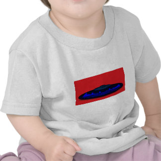 Flying Objects R. & D. in Chrome BLUE and Magenta Tshirt