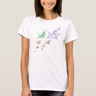 Flying Origami Paper Cranes T-Shirt