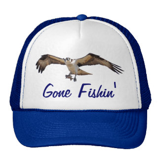 Flying Osprey Hunting for Fish Hat
