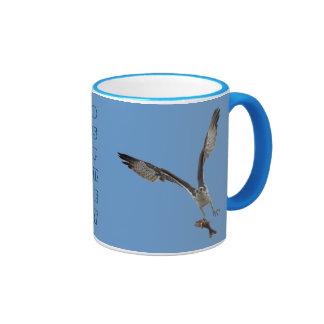 Flying Osprey Hunting for Fish Coffee Mug