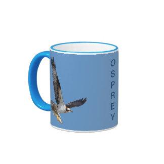 Flying Osprey Hunting for Fish Mugs