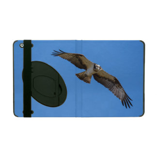 Flying osprey with a target in sight iPad cover