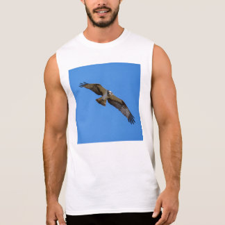 Flying osprey with a target in sight sleeveless shirt