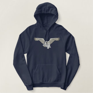 Flying Owl Embroidered Hoodie