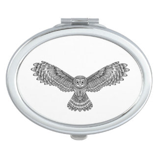 Flying Owl Zendoodle Compact Mirrors