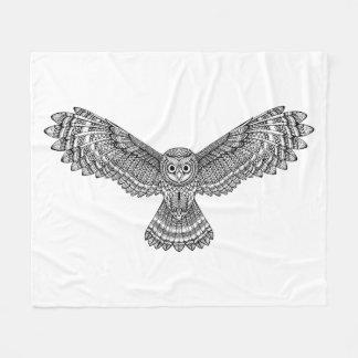 Flying Owl Zendoodle Fleece Blanket