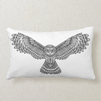 Flying Owl Zendoodle Lumbar Cushion