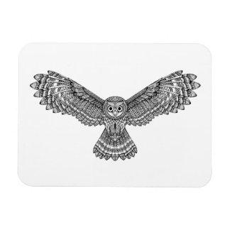 Flying Owl Zendoodle Magnet