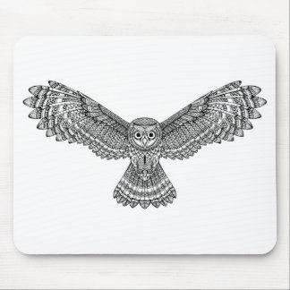 Flying Owl Zendoodle Mouse Mat