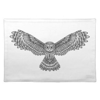 Flying Owl Zendoodle Placemat